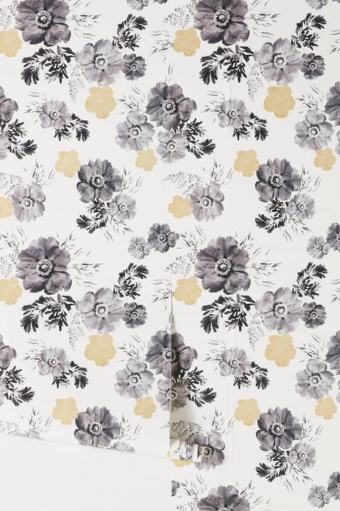 Dorie black white neutral floral wallpaper mightylinksfo