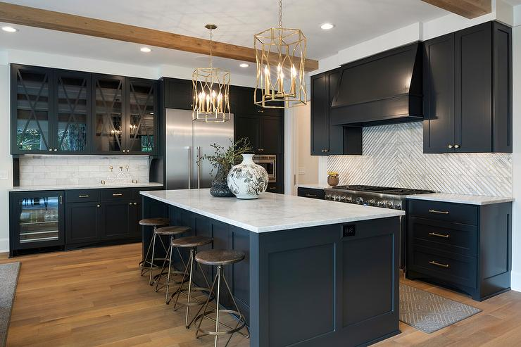 Black And White Kitchen Contemporary Kitchen