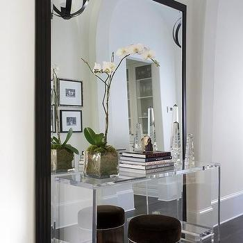 White Arched Full Length Mirror