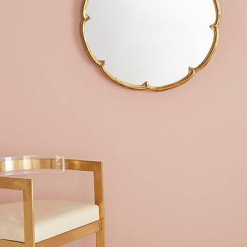 Henrietta Brass Chain hanging Mirror