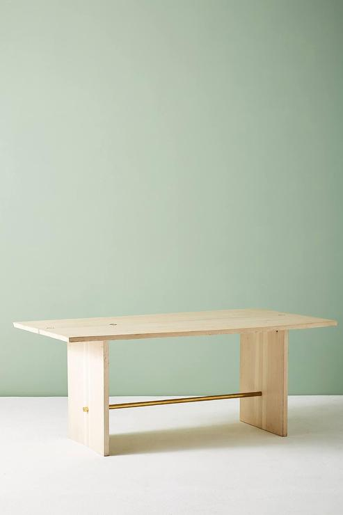 Danehill Brass RIngs Wood Dining Table - Bleached wood dining table