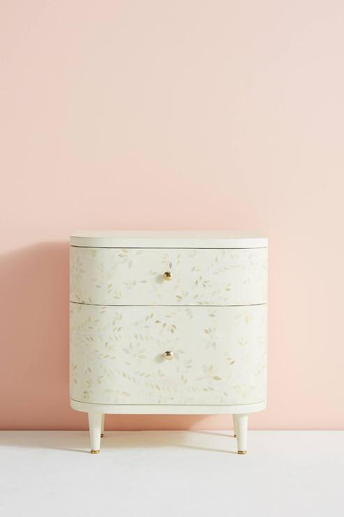 Pink And Mother Of Pearl Bedside Table Graham And Green