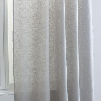 Zara Home Light Gray Linen Curtain Panel