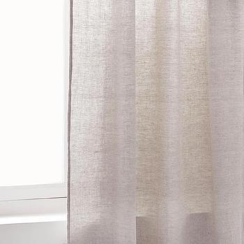 Zara Home Faded Light Gray Linen Curtain
