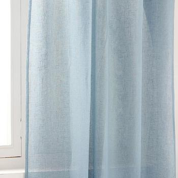 Zara Home Light Blue Sheer Linen Curtain