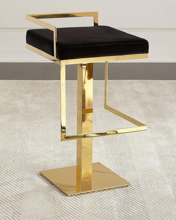 Alpha Brass Gold Bar Stools