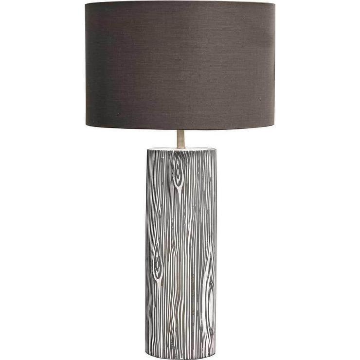 Mercana esquival brown wood ceramic table lamp aloadofball Choice Image