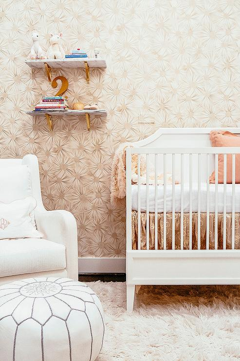 Pink And Gold Nursery Colors Contemporary Nursery