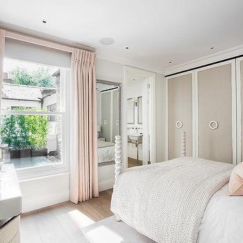 Dove Gray Bedroom Closet Doors Design Ideas