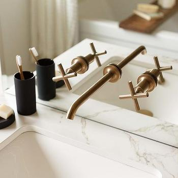 Brushed Gold Bathroom Faucet Design Ideas - Brushed gold bathroom faucet for bathroom decor ideas