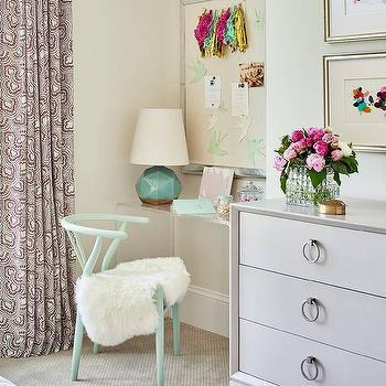'Mint Green Wishbone Chair1_b@b_1Acrylic Waterfall Desk' from the web at 'https://cdn.decorpad.com/photos/2017/10/30/m_mirror-framed-pin-board.jpg'