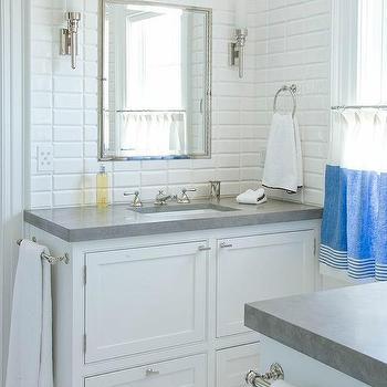 Polished Nickel Kids Bathroom Case Scones Design Ideas