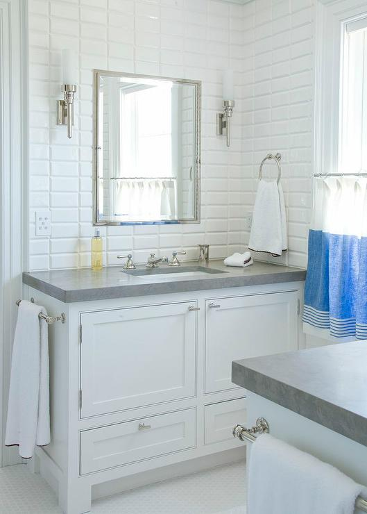 Adjacent Vanities Cottage Bathroom Urban Grace Interiors