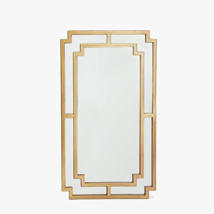 Zara home double border greek key brass mirror for Mirror zara home