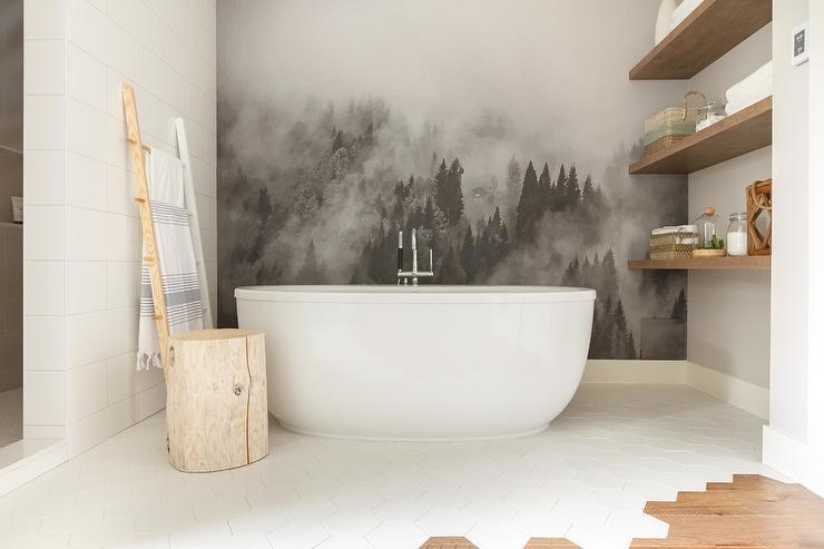 Bathroom Shiplap Accent Wall Design Ideas