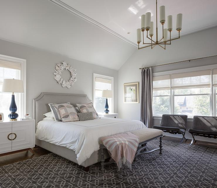 Heather Gray and Blush Pink Bedroom Colors - Contemporary ...