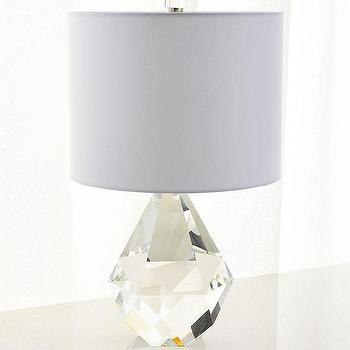 Faceted Princess Crystal Prism Table Lamp