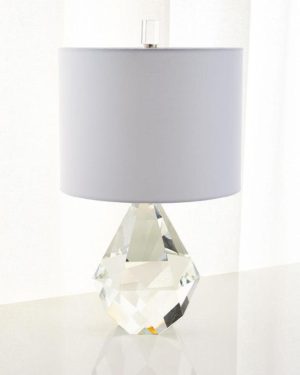 Ralph Lauren Home Daniela Faceted Clear Crystal Prism