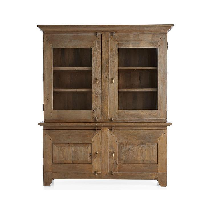 Basque Gray Wash Hutch Top Wood Buffet