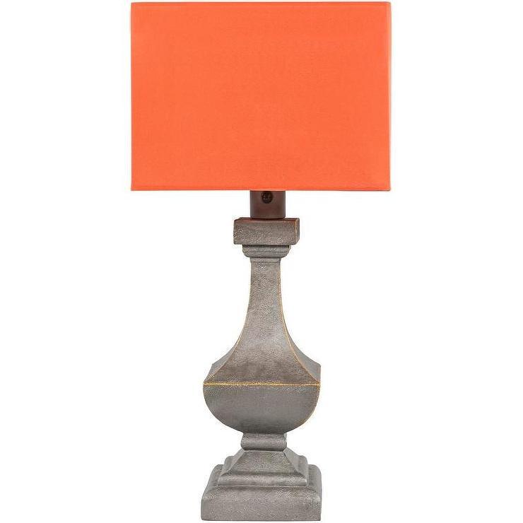 Starfish Orange Ash Gray Antique Table Lamp