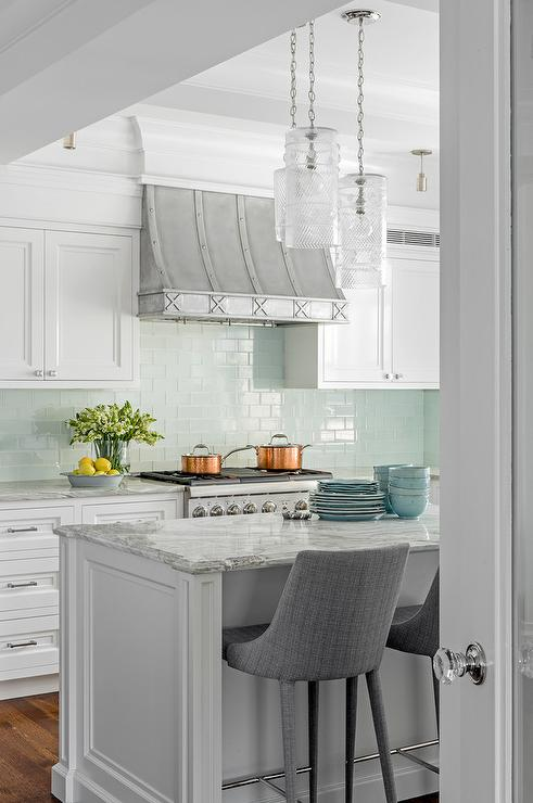 Gray And Aqua Kitchen Accent Colors Transitional Kitchen - Accent color for grey and white kitchen