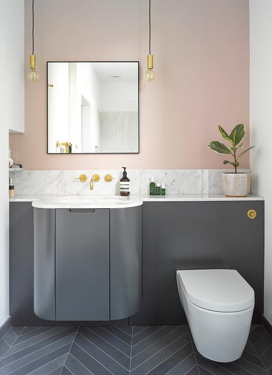 Pink and gray bathroom colors contemporary bathroom for Pink and grey bathroom decor