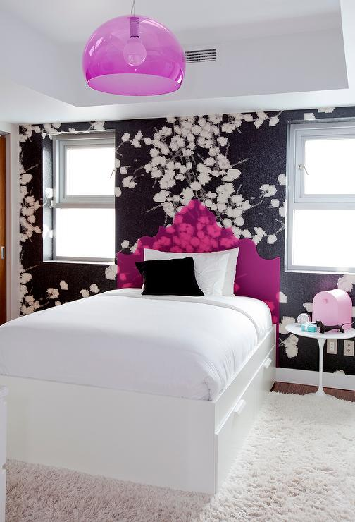 Fuchsia And Black Teen Kid Bedroom Colors Design Ideas
