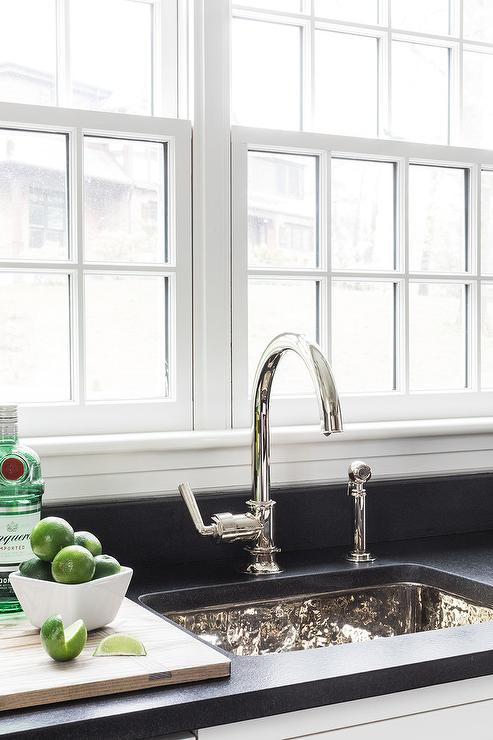 amazing marble countertop sink design and modern faucet.htm rectangular hammered metal sink with gooseneck faucet  rectangular hammered metal sink with