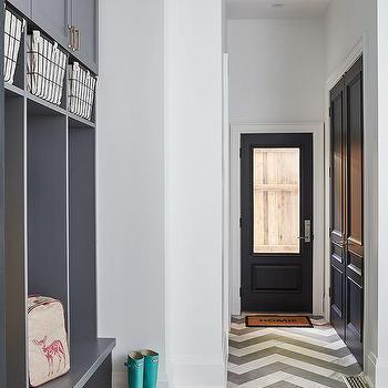 Wood Slat Mudroom Locker Doors Cottage Laundry Room