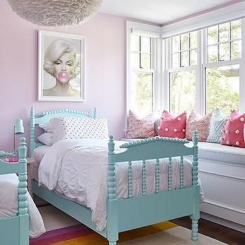 Pink And Turquoise Girls Bedroom Design Ideas