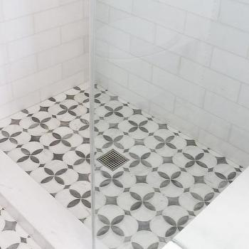Quatrefoil Tile Transitional Bathroom Tracery Interiors