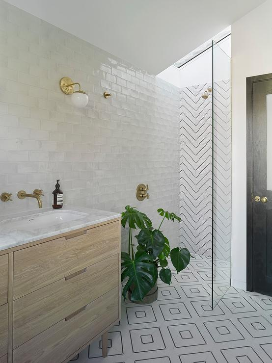 Small Modern Walk In Shower Modern Bathroom