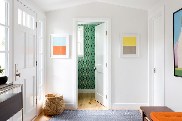 Art For Foyer : Color block art contemporary entrance foyer
