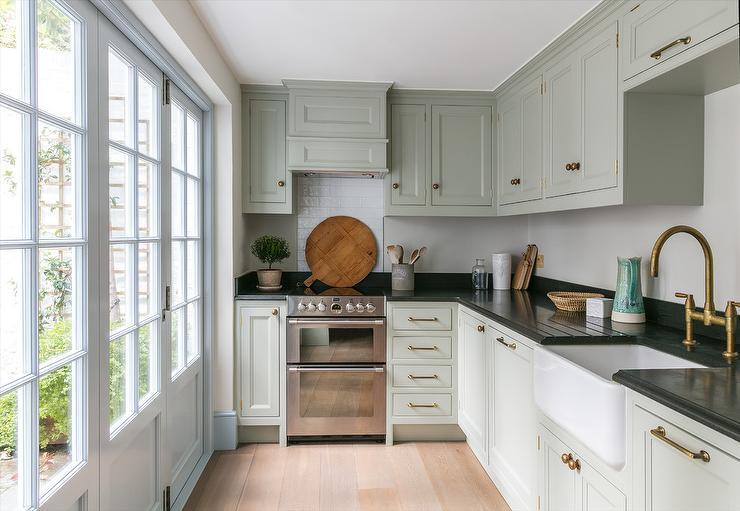 Stupendous Light Gray Green Cottage Kitchen Colors Cottage Kitchen Download Free Architecture Designs Embacsunscenecom