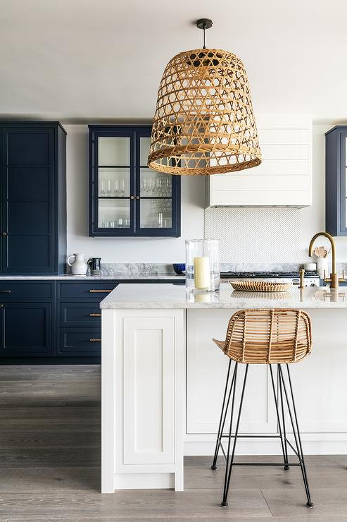 Small shiplap kitchen hood design ideas for Blue washed kitchen cabinets