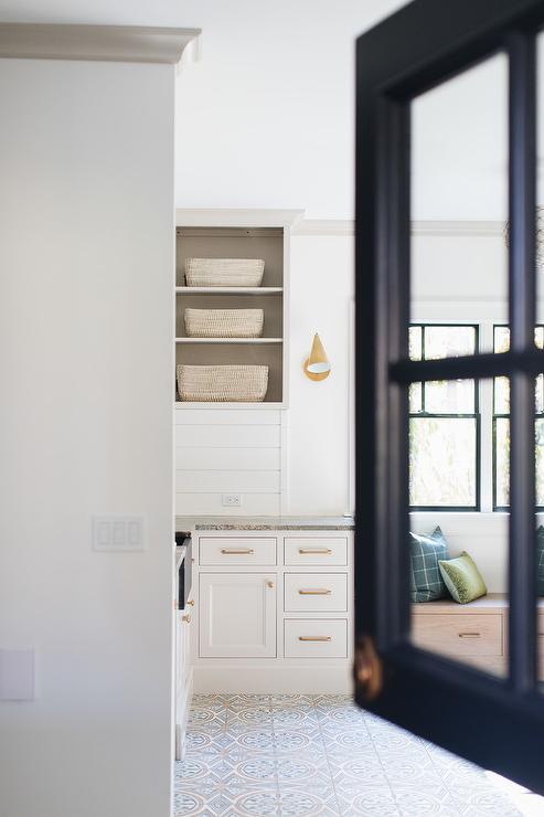 Black Framed Glass Laundry Room Dutch Door