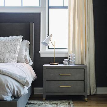 Dark Gray Bedroom Eclectic Bedroom Elizabeth Bauer