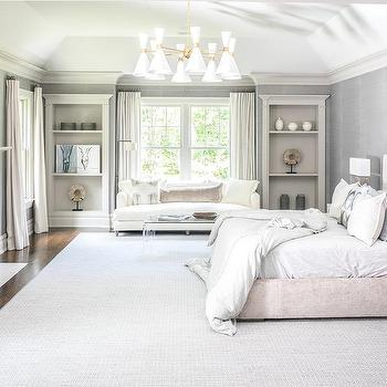 Light Gray Crushed Velvet Bedroom Lumbar Pillow Design Ideas