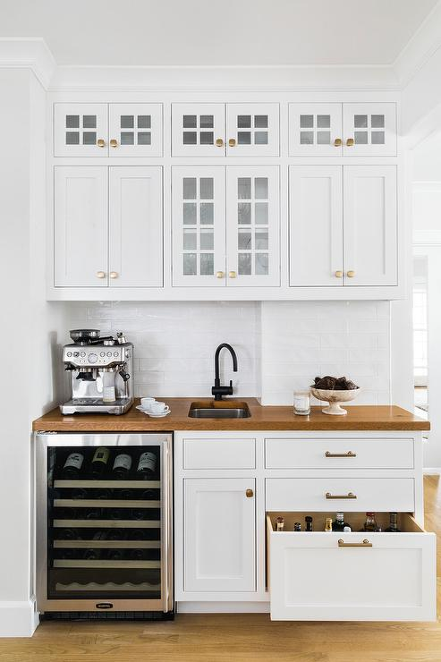 Kitchen Wet Bar with Libations Drawer - Cottage - Kitchen