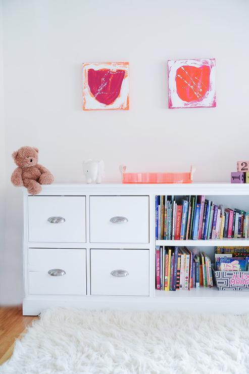 Long Kids Bookcase With Drawers
