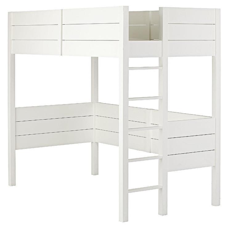 Callum Whitewash Full Loft Bed
