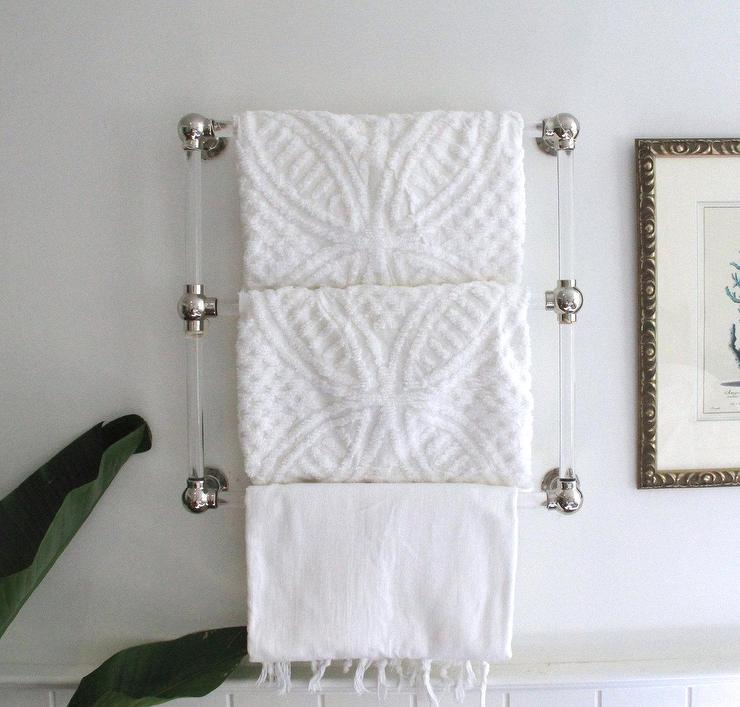 Hand Towel Bar Lucite W Polished Brass Luxholdups I Etsy