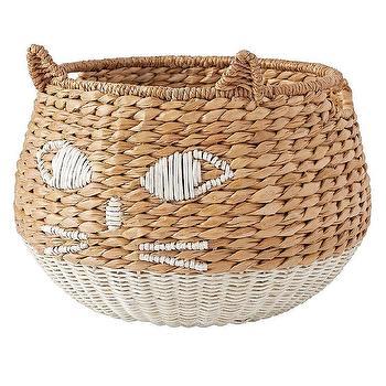 Panda Woven Wicker Animal Basket