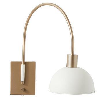 Single Swing Arm Brass Wall Mount Light