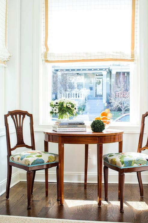 Attirant Antique Chairs With Blue And Green Seat Cushions