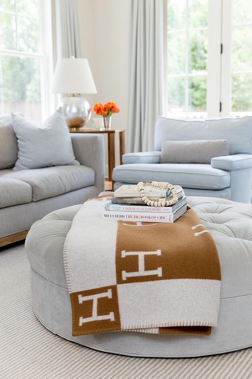 Hermes Blanket Living Room Black White