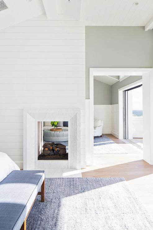 Shiplap Fireplace Facade Design Ideas