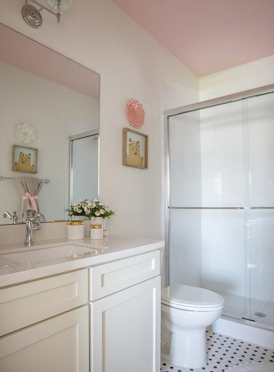 Pink Bathroom Ceiling