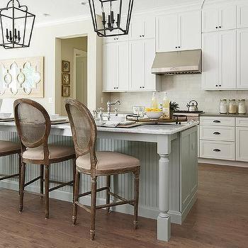 Round Cane Back Kitchen Counter Stools Design Ideas