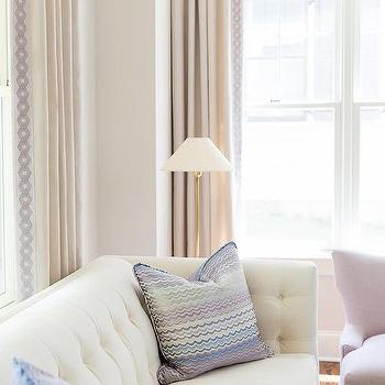 Lilac Paint Color Transitional Living Room Para